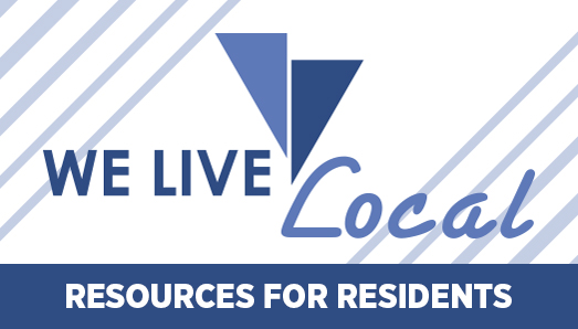 We Live Local Slider - resources for residents